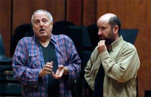 Albanese (a destra) al lavoro