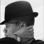 USA. Illinois. Chicago. Malcolm X during his visit to entersprises owned by Black Muslims. 1962.