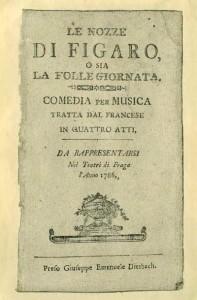 Mozart, libretto di figaro 1786 Musiculturaonline