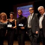 Giosetta Guerra con i protagonisti della serata Musiculturaonline