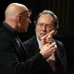 Alvis Hermanis (a sx) e Riccardo Chailly Musiculturaonline