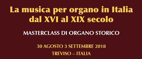 Masterclass di organo storico a Treviso