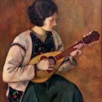 1) Suonatrice di mandolino, 1929, olio, 66×77 cm Musiculturaonline