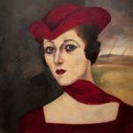 2) Nori con cappello e sciarpa, s.d., olio, 42×41 cm Musiculturaonline