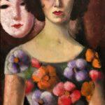 3) Nori con maschere bianche, 1961, olio, 41×73 cm Musiculturaonline