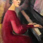 4) Nori al pianoforte, 1943, olio, 71×101 cm Musiculturaonline