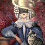 5) Nori con bauta e gatto, 1945, Musiculturaonline