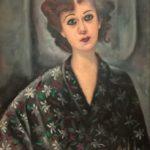 9)Nori con vestaglia a fiori, olio, 1950, 77x 52 cm Musiculturaonline