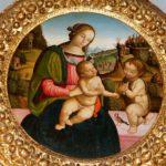 Madonna con il Bambino e San Giovanni Battista, Scuola peruginesco-pintoricchiesca, prima metà del sec. XVI, tempera su tavola Mus