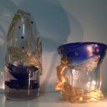 Laura Panno – I CLASSICI blu e oro Vetro soffiato Musiculturaonline