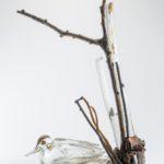 TONI ZUCCHERI – Cespuglio con anatra vetro soffiato e bronzo Musiculturaonline