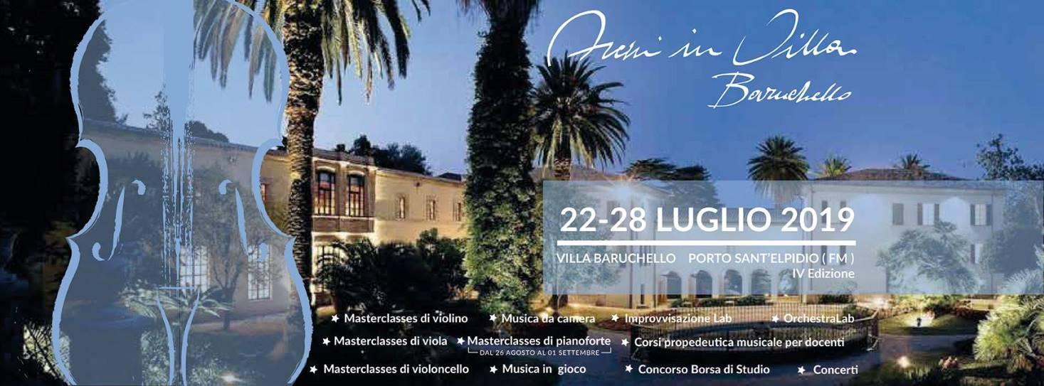 """Torna il Festival """"Archi in Villa Baruchello"""" di Porto Sant'Elpidio (22/28 luglio)"""