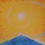 Sandro Sansoni, La montagna sacra, olio su tela, 1999, Brescia, collezione privata Musiculturaonline