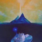 Sandro Sansoni, Verso l'isola dei Beati, olio su tela, 1984, Pesaro, collezione privata Musiculturaonline