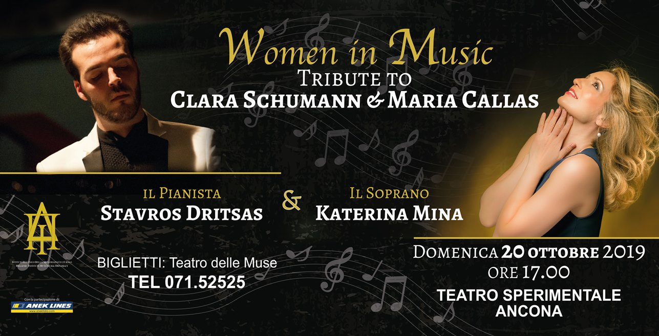 "Ad Ancona ""Women in music – tribute to Clara Schumann & Maria Callas"""
