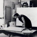 Bice Lazzari nello studio di Passeggiata di Ripetta, Roma Musiculturaonline
