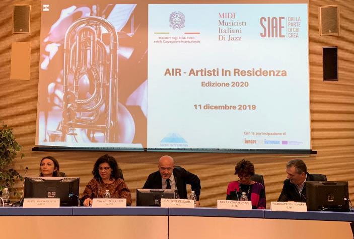 """Presentato a Roma il Progetto """"AIR – Artisti in residenza"""" 2020"""