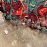 Francesca Romana Pinzari, Senza titolo, 2020, allume di rocca su tela dipinta (particolare) Musiculturaonline