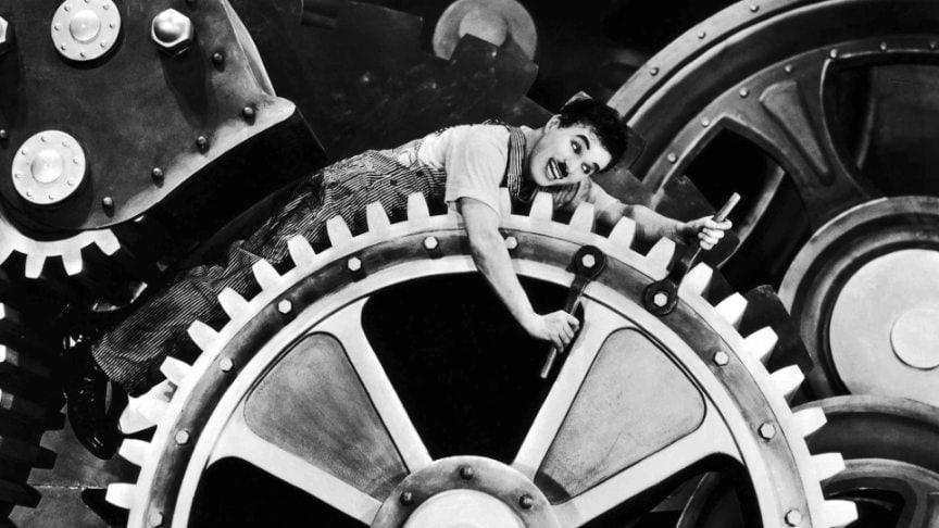 "L'attualità di ""Tempi moderni"" di Chaplin"