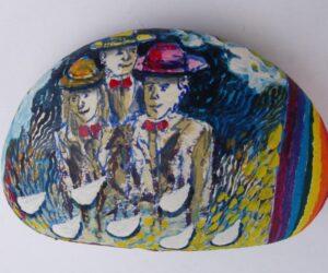 Sui sassi i segni colorati di Carlo Iacomucci
