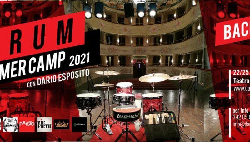 """Al via il """"Drum Summer Camp"""" di Dario Esposito"""