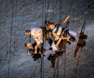 La danza verticale anima lo Sferisterio