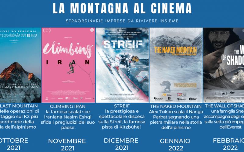 """Al via il progetto nazionale """"La montagna al cinema"""""""
